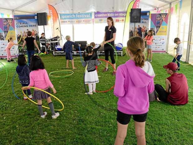 Children enjoying the Ecco Ripley Creative Kidz events.