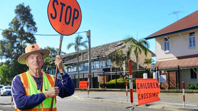 SAFETY FIRST: 80-year-old Kevin Berg has been working Ipswich school crossings for 21 years.