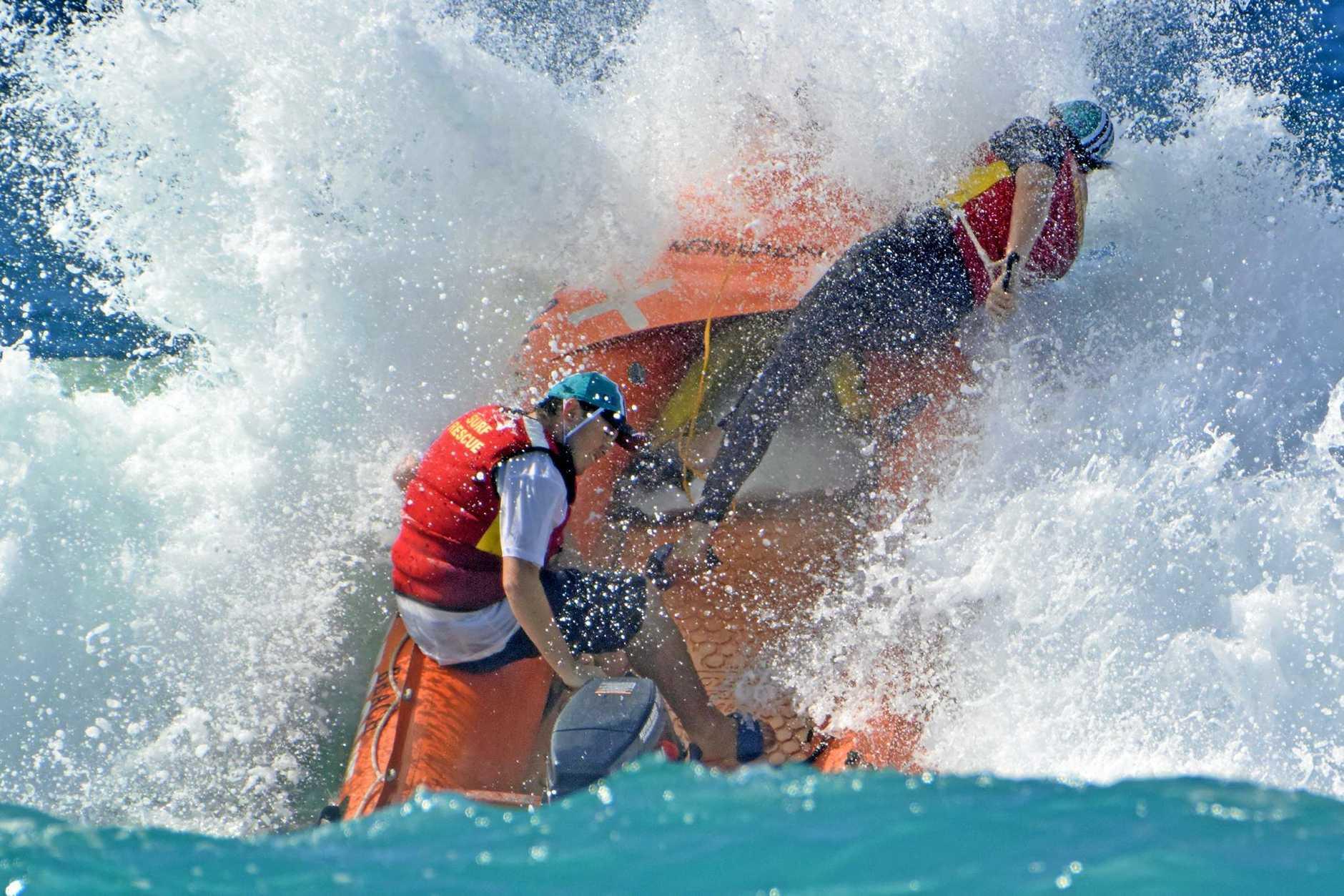 ACTION: The Ocean Roar IRB Series lit up Mudjimba Beach over the weekend.
