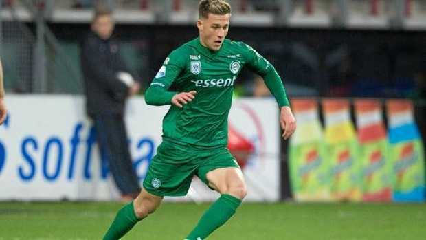 Australian-born Ajdin Hrustic in action for Groningen.