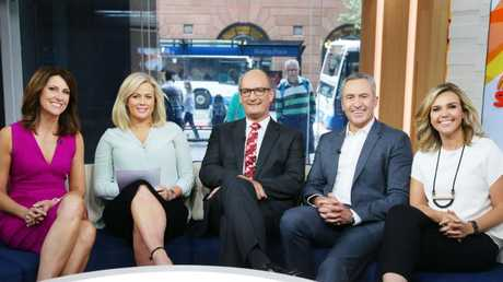 Sunrise team: Natalie Barr, Samantha Armytage, David Koch, Mark Beretta and Edwina Bartholomew.