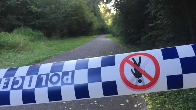 The crime scene around a notorious pathway in Narara on the Central Coast where a 12-year-old girl was allegedly tied up and sexually assaulted on her way to school.