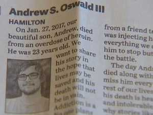 Honest obituary about addict son