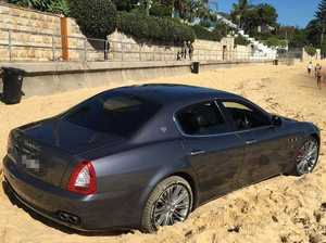 Why on earth would you drive a Maserati onto a beach?