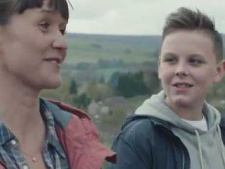 A still from the UK McDonald's ad. So far, the conversation is on death, not burgers.