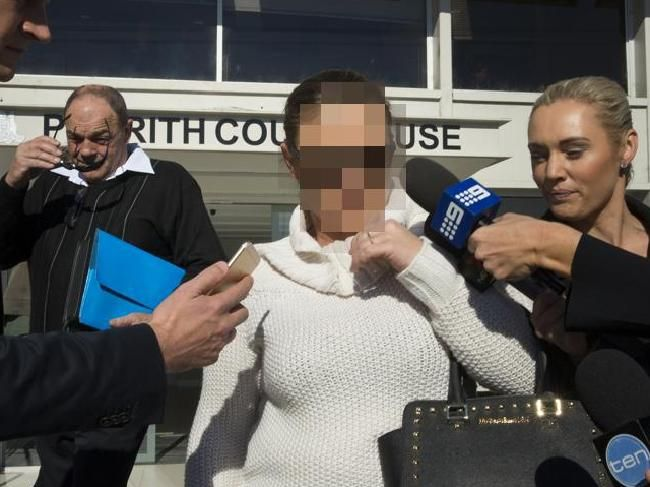 """The woman told reporters to """"f*** off"""" as she left court today."""
