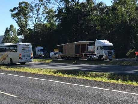 The truck lost its trailer on the Bruce Highway, heading southbound at Forest Glen.