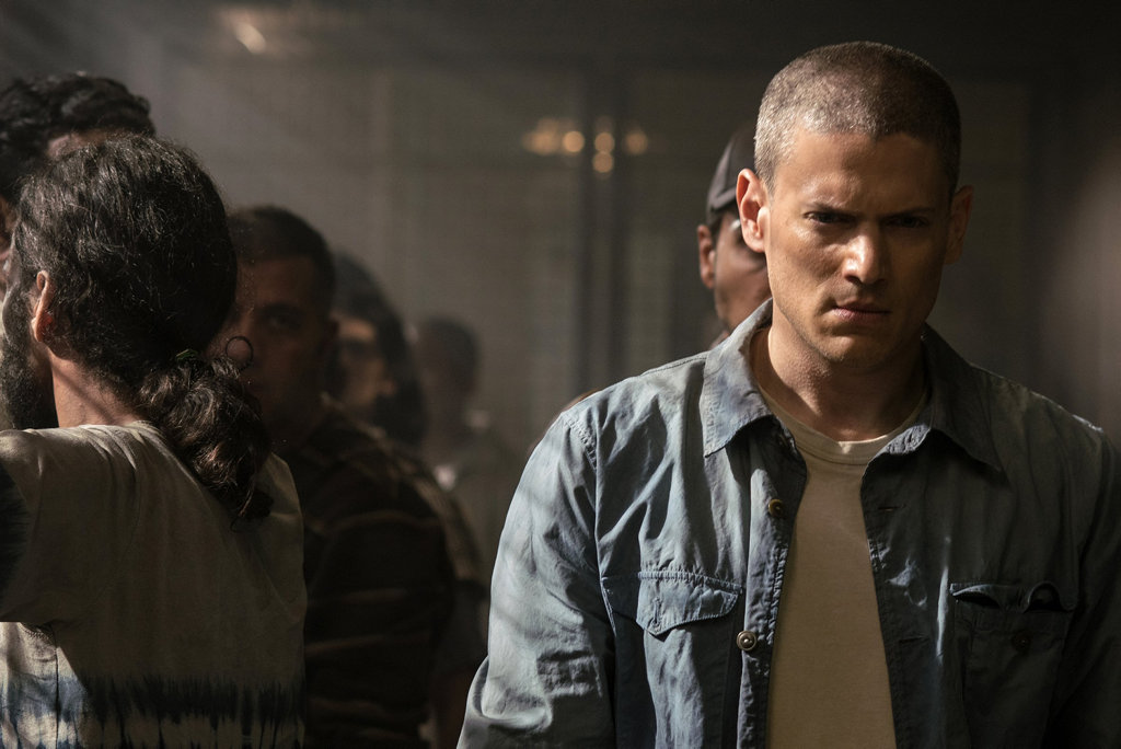 Wentworth Miller in a scene from the TV series Prison Break.