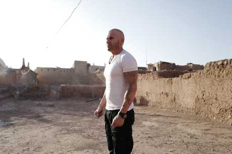 Dominic Purcell in a scene from season five of Prison Break.