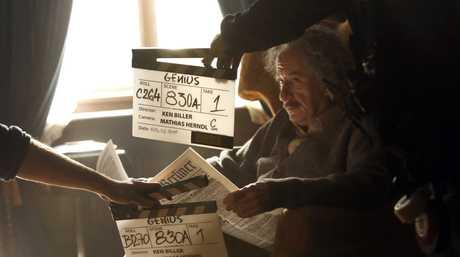 Geoffrey Rush stars as Albert Einstein in the TV series Genius.