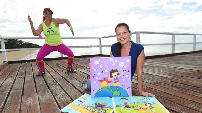 DANCE FOR KIDS: Hervey Bay artist Rebecca Knowles is the creator of the images for a first-of-its-kind Zumba kids book, written by Zumba fitness instructor Katie Joy