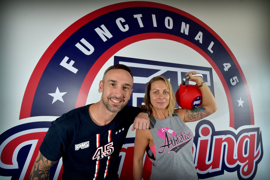 Sonny Ivanovic and Tamara Farrell are opening the F45 Gym in Maroochydore.