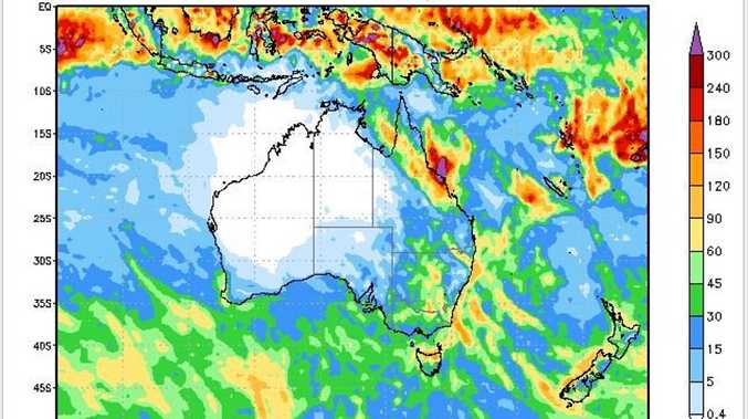 The weather map shows it is going to be a very wet week in Mackay.