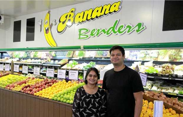 NEW OWNERSHIP: Vijay Juvvala and Priyanka Nakka are the new owners of popular fruit shop Banana Benders.