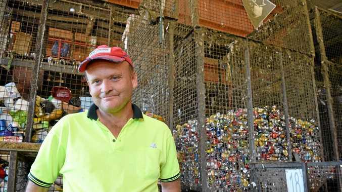 WINNERS: Darryl Baldry at the Bundaberg Regional Recycling centre.