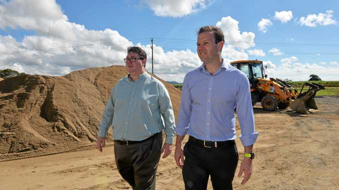 Member for Dawson George Christensen and Senator Matt Canavan announced Wednesday that Mackay company Vassallo Constructions had won the $1.9 million relocation of water mains contract associated with the Mackay Ring Road.
