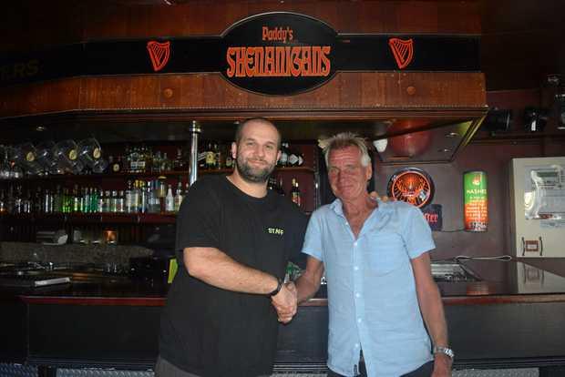 KIND: Paddy's Shenanigans venue manager, Tim Langford and Bruce Bridges.