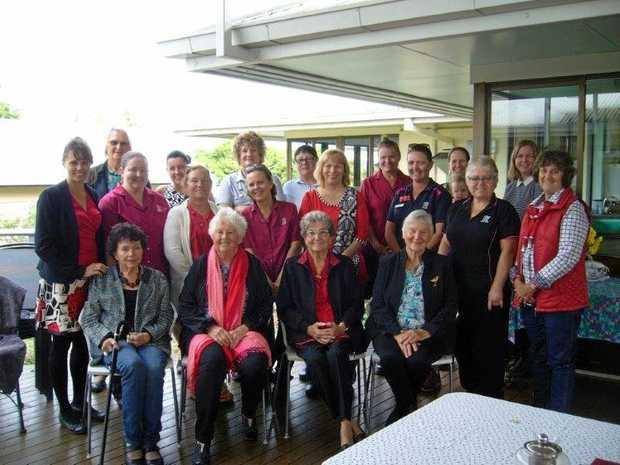 RELAX: Nurses past and present gather to celebrate International Nurses Day.
