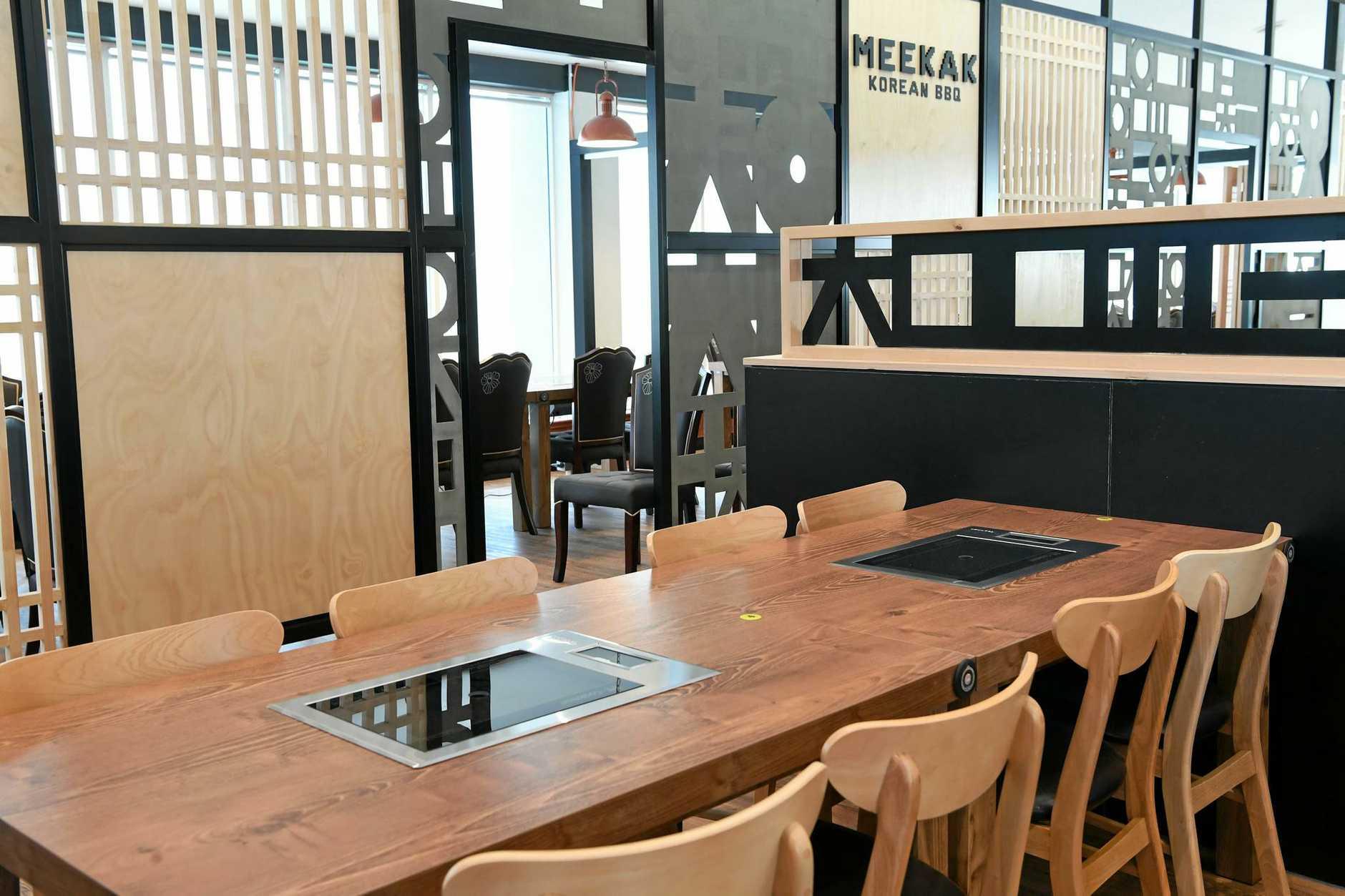 MEEKAK: Iinside the new Korean restaurant in Bourbong Street.