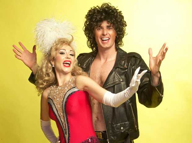 COMEDY: Asher Treleaven (La Soirée) and Gypsy Wood (Miss Cage Dance Universe Australia) are Peter & Bambi Heaven.