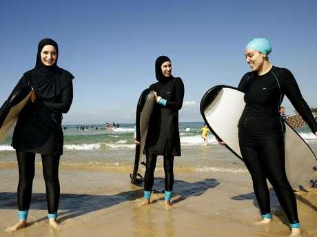 Speedo launched a new range of modesty suits with the Swim Sisters earlier this year. Picture: John Appleyard