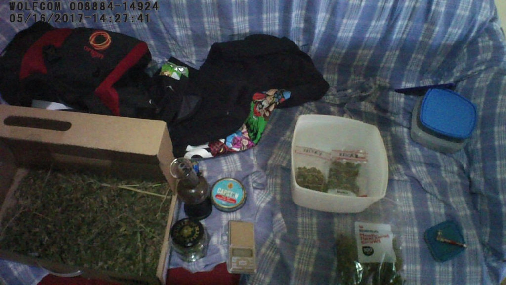 Items seized during raids across Warwick.
