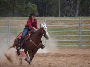 Barrel Racing event at Chinchilla Showgrounds, May
