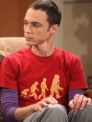 Jim Parsons as the adult Sheldon in The Big Bang Theory.