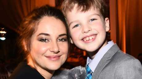 Iain Armitage with his last on-screen mum, Shailene Woodley, from Big Little Lies.