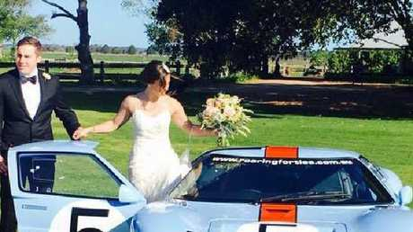 Adam Cranston on his wedding day to wife Elizabeth. There is no suggestion Elizabeth was involved in the alleged scam. Picture: Facebook