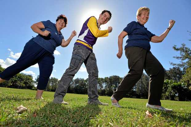 TAKING IT IN THEIR STRIDE: De Anna Delaney, Matthew Delaney and Wendy Gilson from the Kawana Waters Rotary Club will be participating in this year's Relay for Life.