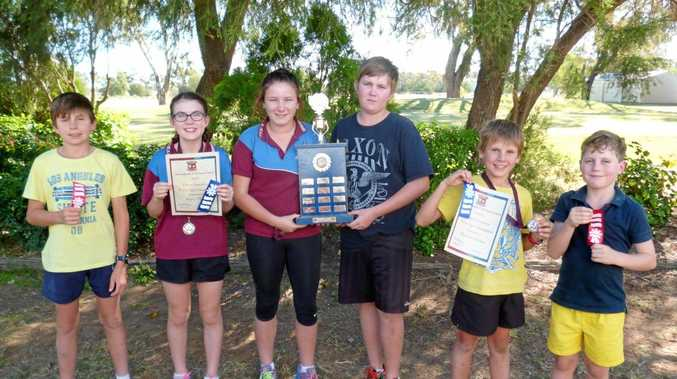IN THE RUNNING: Students in Dirranbandi fought it out in a cross country battle, with the Calgoa team winning overall.