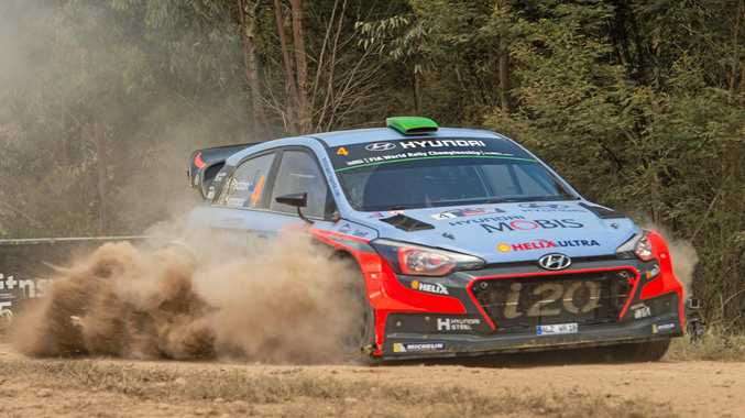 The sight of Hyundai's flying around the Coffs Coast's forest roads is set to be an all too common one in November.