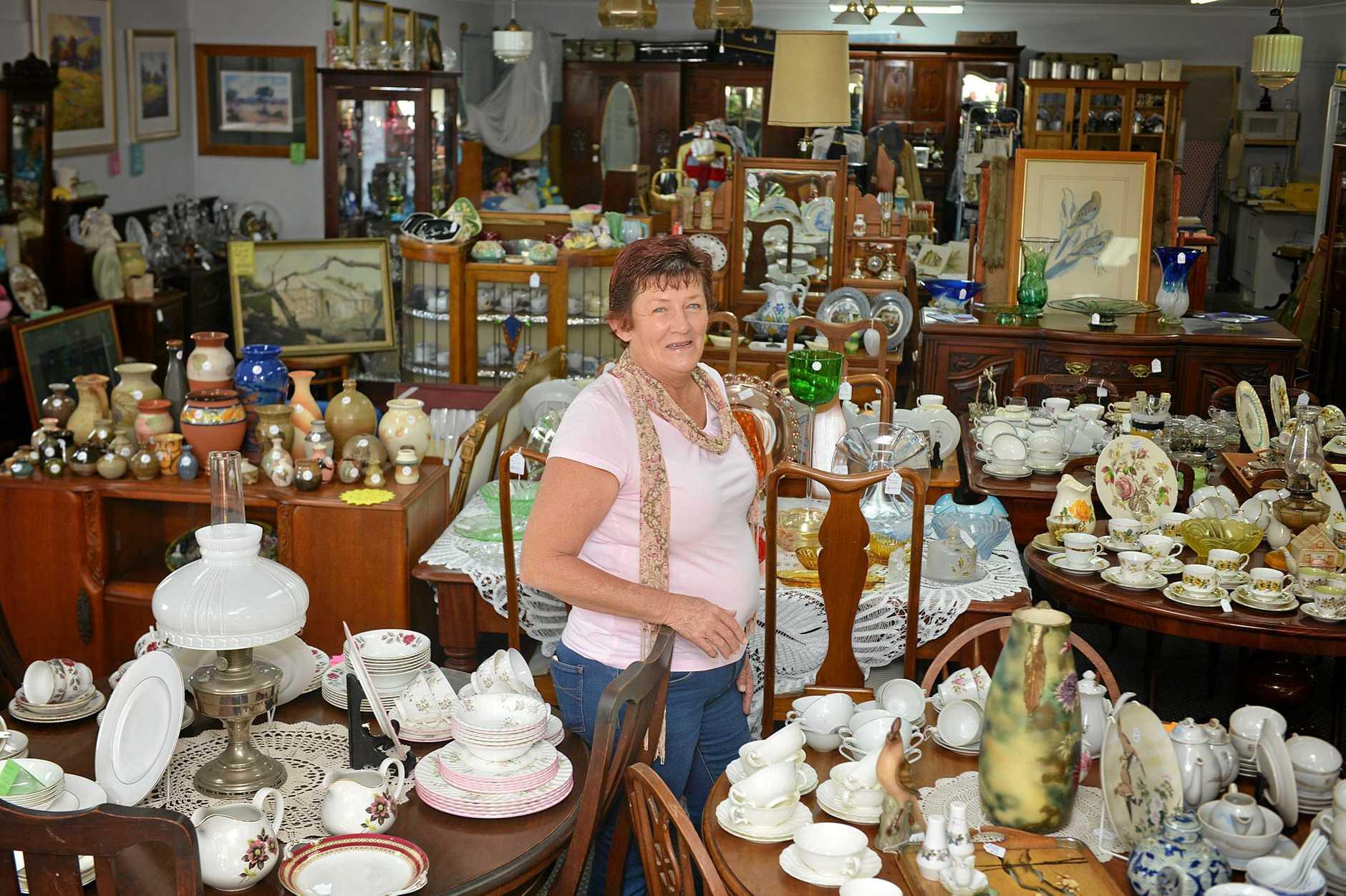 Chris Jepcott loves working at Kilkivan Fine Art & Antiques in Gympie.