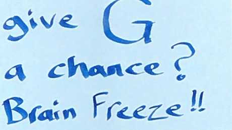 John Lennon sang 'give peace a chance'. Now someone, on signs across Ipswich and Brisbane's west has begged...'give C a chance'.