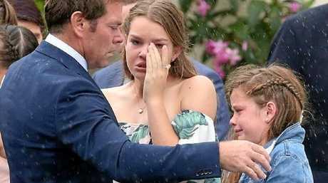 Kimmorley at Sharnie's funeral. Photo: News Corp Australia