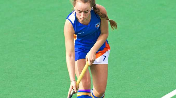 Hollie George, Newtown. Newtown vs Bellbowrie. Hockey, Toowoomba-Ipswich Intercity .  Sunday, 14th May, 2017.