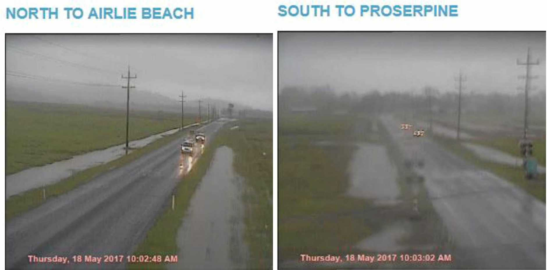 HEAVY RAIN: The Hamilton Island Flood camera shows water levels are starting to rise.