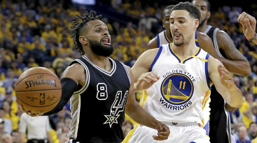 SUCCESSFUL PLAN: Patty Mills has been shut down by Golden State defensive dynamo Klay Thompson so far this series.