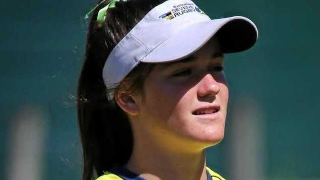 TRAINING BREAK: Toowoomba's Dom du Toit trains with the Australian women's rugby sevens team.