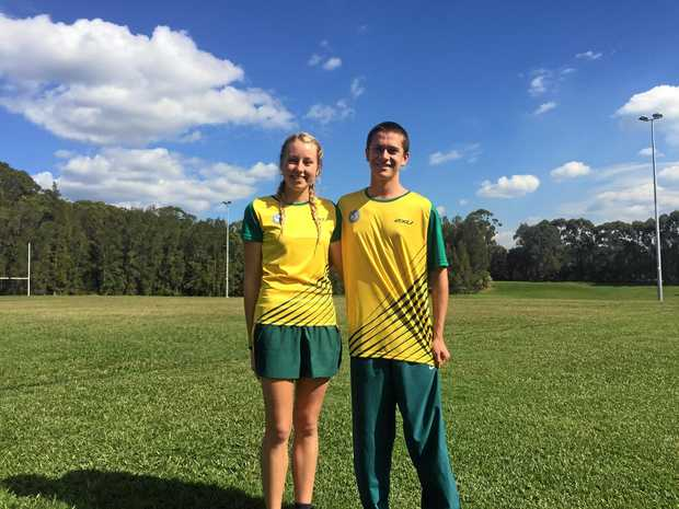 Local teens Georgia Ensbey and Keaan Van Venrooij have made waves in modern pentathlon.