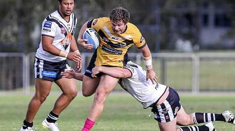 Sunshine Coast Falcons vs Northern Devils Intrust Super Cup. Sunshine Coast's James Ackerman. Photo: Ritchie Duce.