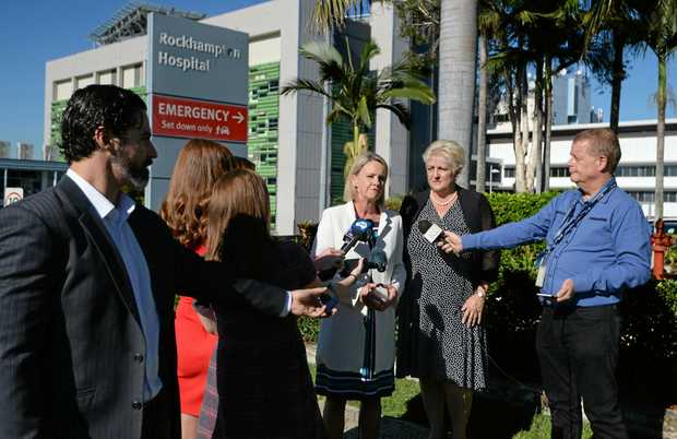 Minister for Regional Development Fiona Nash and Member for Capricornia Michelle Landry at a press conference in Rockhampton to announce funding for the hospital carpark. Infrastructure is a key area for investment identified in the Regions 2030 plan.
