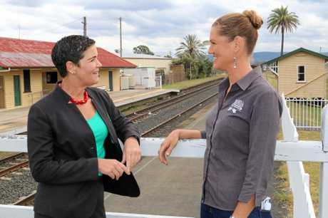 SPEAK UP: Lockyer Valley mayor Tanya Milligan and Lockyer Valley Tourism Association president Kathy Brady are urging residents to have their say on the Melbourne to Brisbane Inland Rail project which will run through the Lockyer Valley.