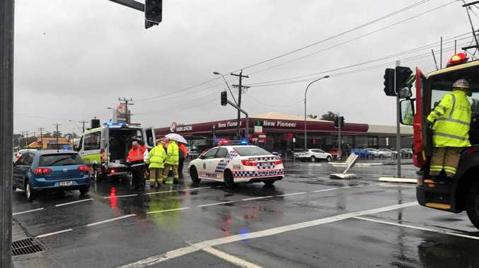 There have been report of two pedestrians involved in the collision at the intersection of Wellington and Gordon streets.