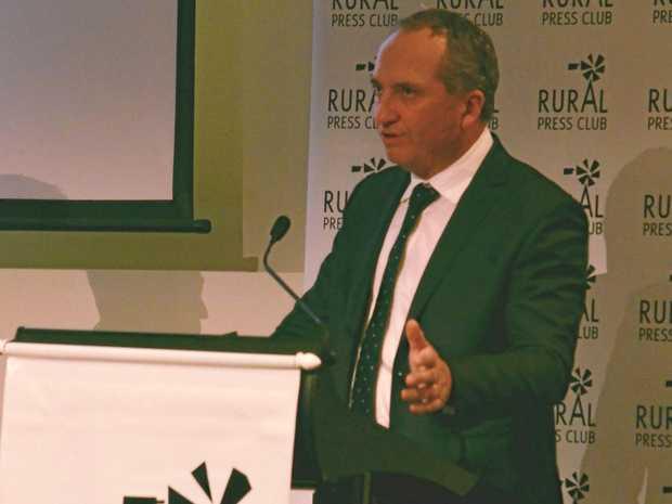 Deputy Prime Minister Barnaby Joyce speaking at the Rural Press Club in Brisbane.