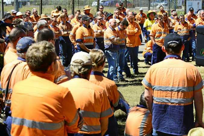 Workers on strike.