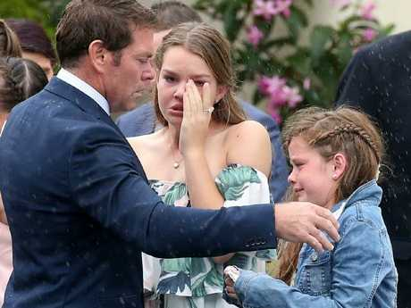 Kimmorley at Sharnie's funeral.Source:News Corp Australia