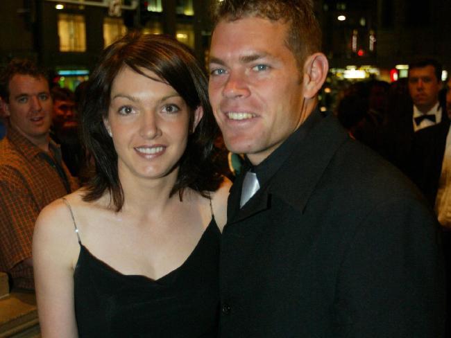 Brett Kimmorley and wife Sharnie. Source:News Corp Australia