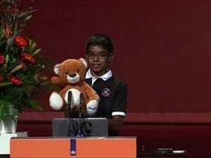 "11 year old ""weaponises"" his Teddy bear"